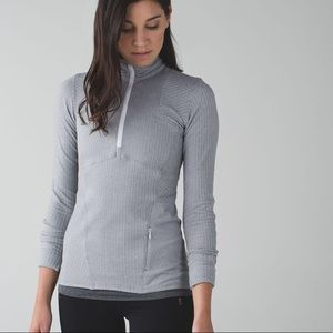 Lululemon Kanto Catch Me 1/2 Zip Herringbone 4